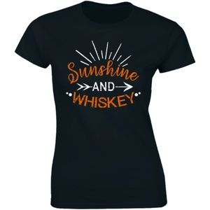 Sunshine and Whiskey Gold Women's T-Shirt Tee